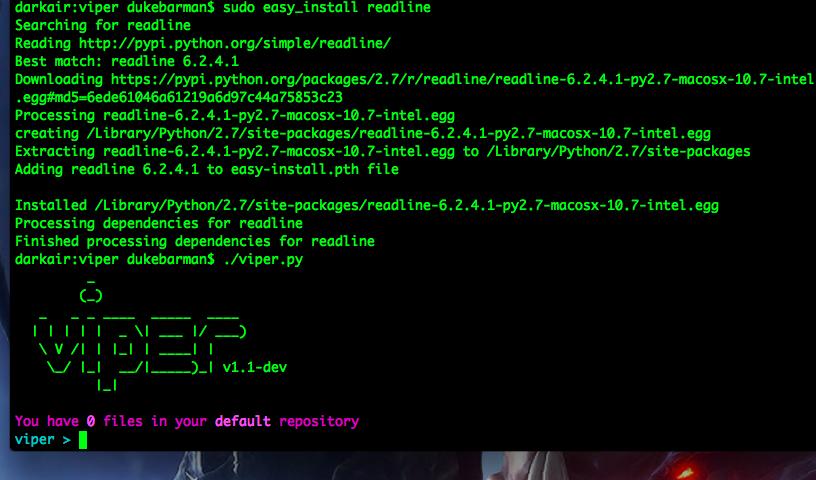 Пример окна в Mac OS X после решения проблемы