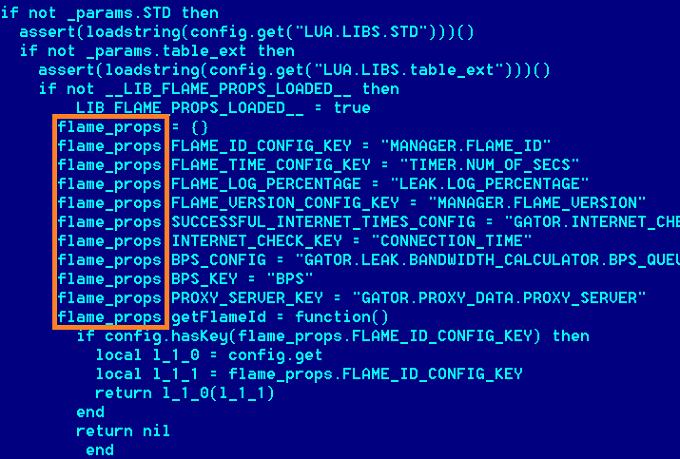 Декомпилированный код Lua из вируса Flame
